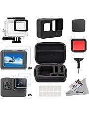 Deyard Kit de Accesorios para GoPro Hero 7 (Solo Negro) / HD (2018) / 6/5 con Estuche pequeño a Prueba de Golpes Paquete Impermeable para GoPro Hero 7 / Hero HD (2018) / Hero 6 / Hero 5
