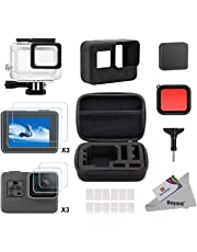 Deyard 25 in 1 Accessory Kit for GoPro Hero 7 (Only Black) Hero (2018) GoPro Hero 6 Hero 5 with Shockproof Small Case Bundle for GoPro Hero 7 Hero (2018) GoPro Hero 6 Hero 5 Action Camera