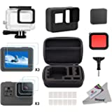 Deyard Accessories Kit for GoPro Hero 7(Only Black)/HD(2018)/6/5 with Shockproof Small Case Waterproof Case Screen Protector Bundle for GoPro Hero 7 Black/Hero HD(2018)/Hero 6/Hero 5