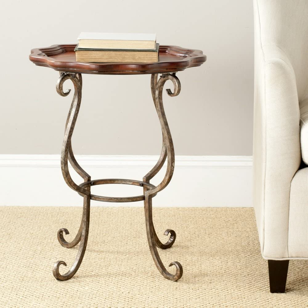 Safavieh American Homes Collection Beaune Cappuccino Scalloped End Table