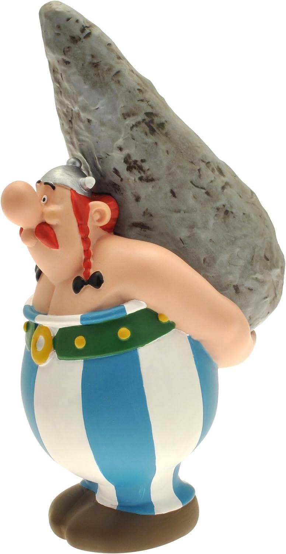 Asterix Figur Obelix mit Hinkelstein 12 cm