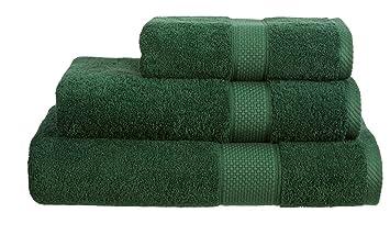 Toallas de 100 % algodón turco hilado de 500 g/m2 de SHL, color verde botella, alfombra de baño: Amazon.es: Hogar