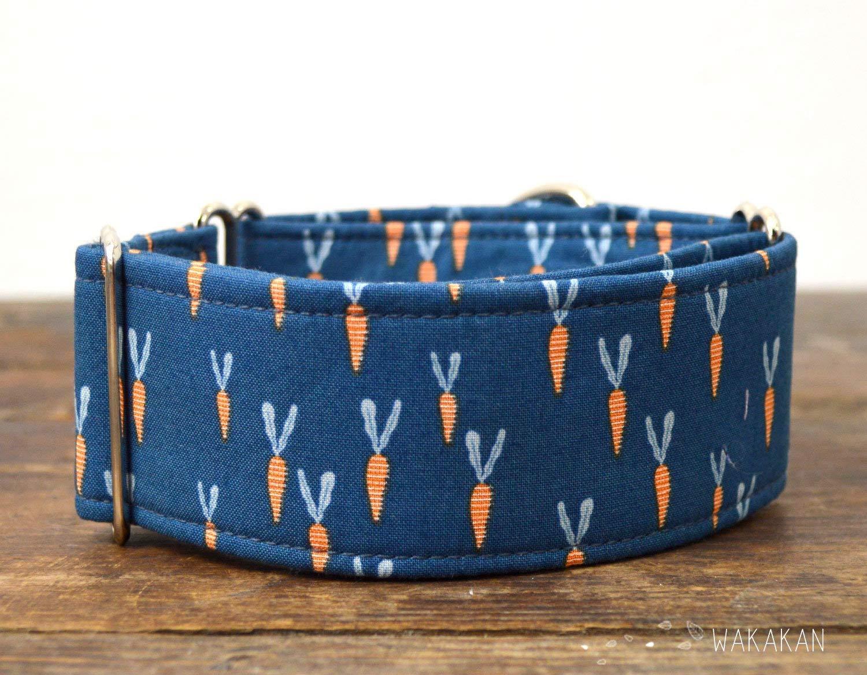 Carrots Handmade in Spain by Wakak/án Martingale Dog Collar