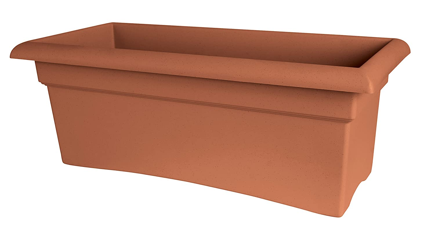 Bloem 57026C Fiskars Veranda Deck Box Planter, Clay, 26""