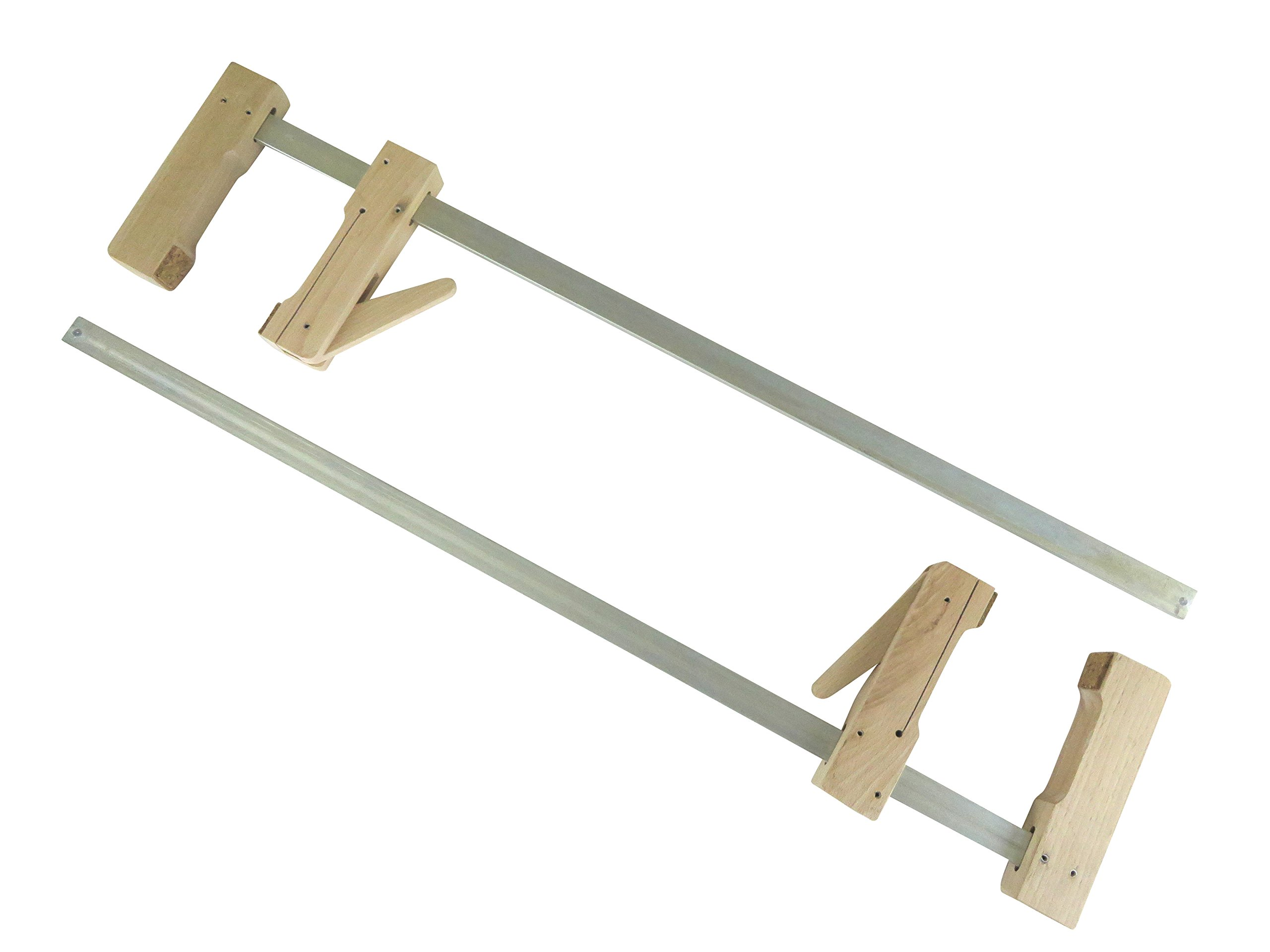 "2 each Pair Taytools 30-600 Wooden Wood Cam Action Clamps 23-1/2"" Opening by 4-1/4"" Depth European Beech"