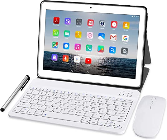 Tablet 10 Pulgadas 4G LTE - TOSCIDO Octa Core Tableta Android 10.0,4GB / RAM,64 GB / ROM,Dual Sim,WiFi ,Teclado Wireless | Ratón | Cubierta para ...