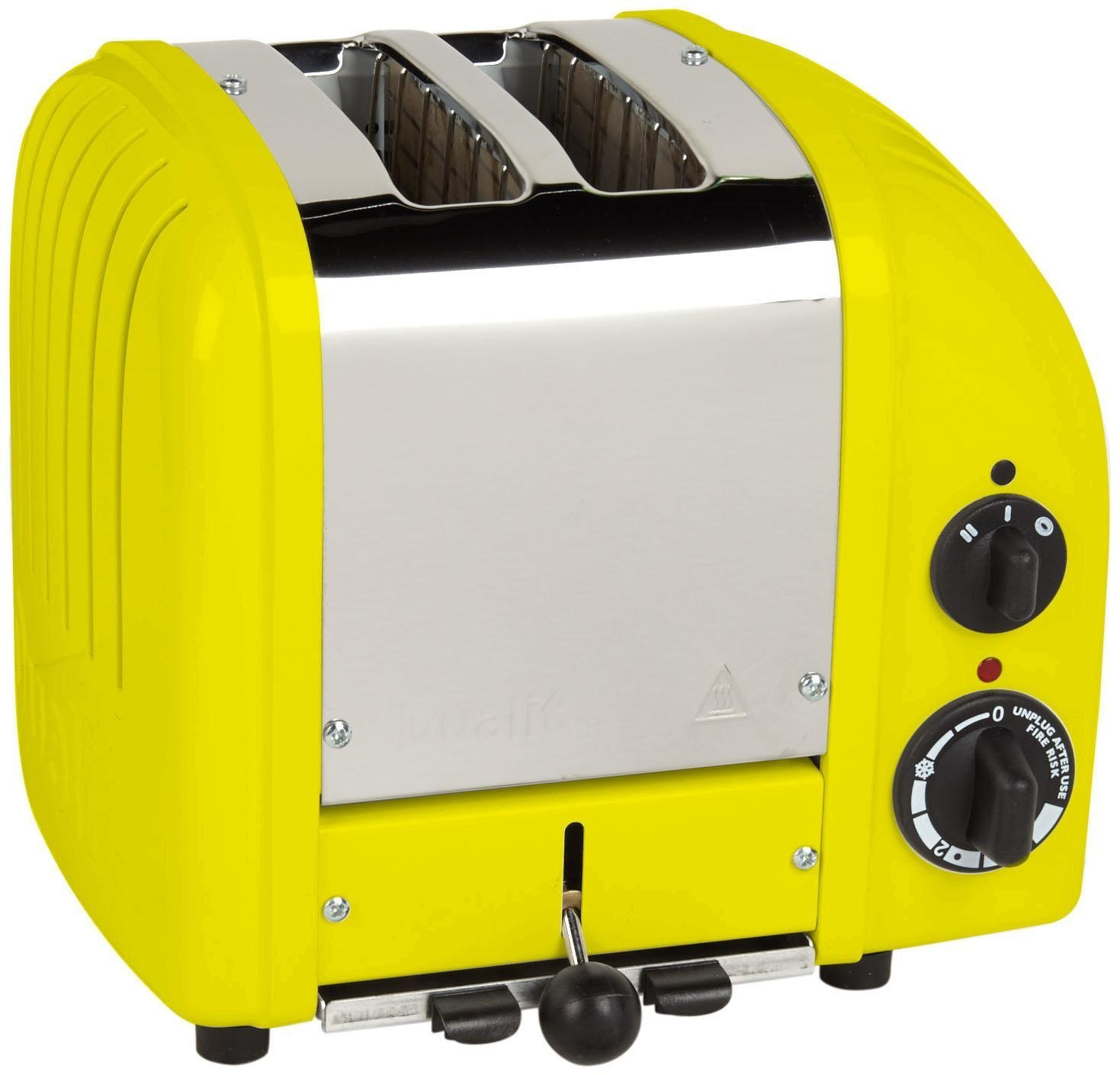 Citrus Yellow 2-Slice Dualit 2 Slice Classic Toaster, Apple Candy Red
