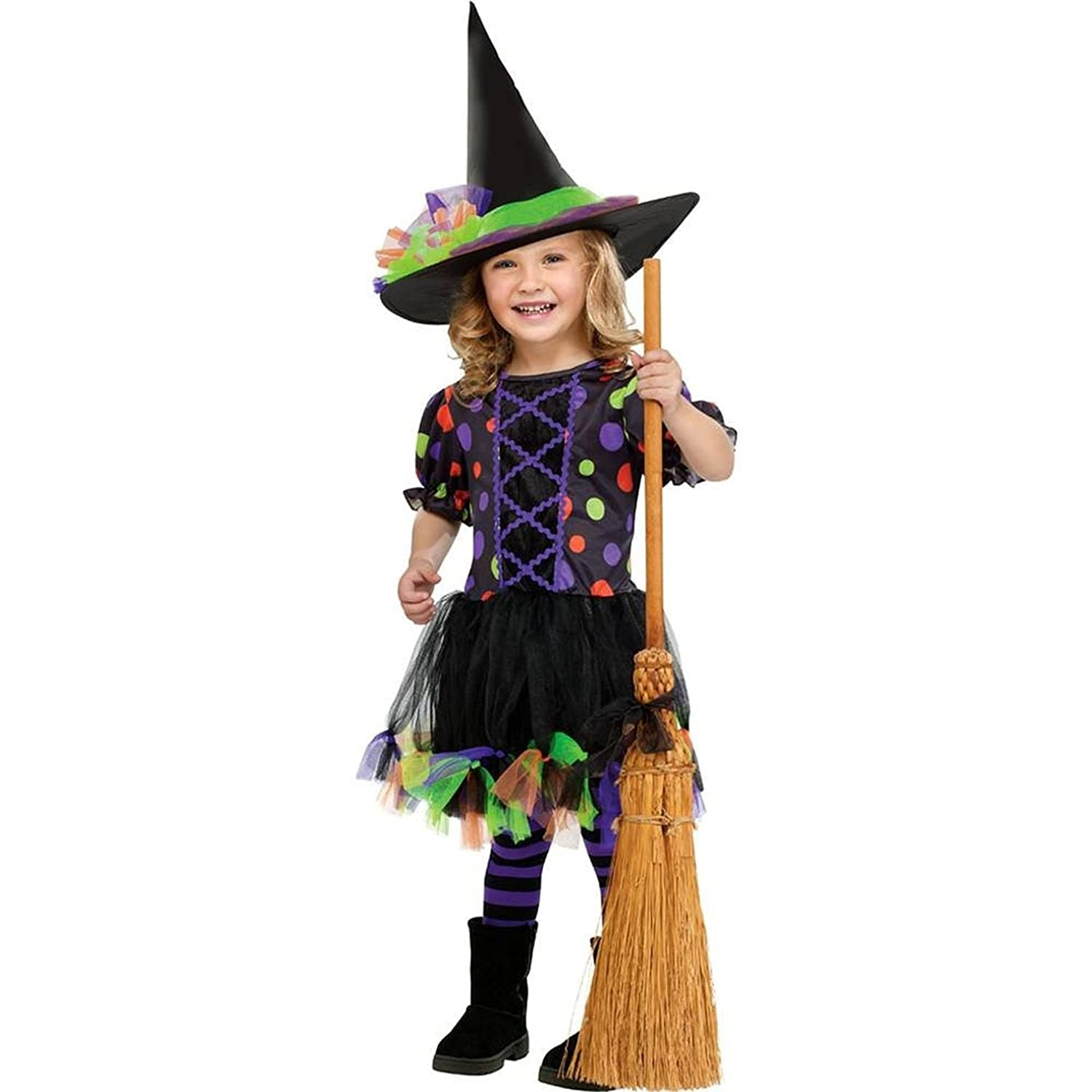 Amazon.com: Polka Dot Witch Toddler Costume: Toys & Games