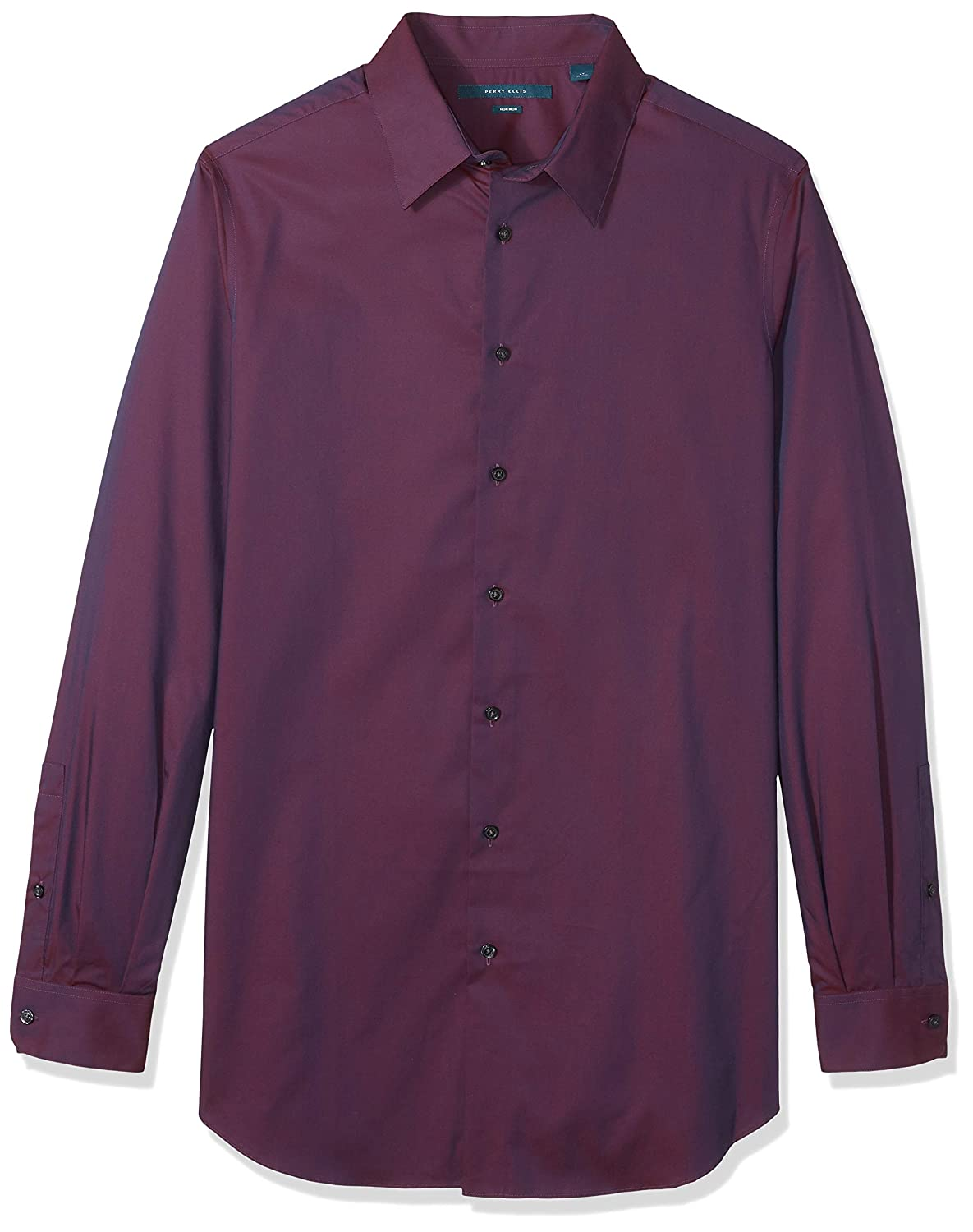 Perry Ellis Mens Big and Tall Non-Iron Travel Luxe Solid Shirt