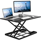 1home Standing Desk Converter – 32x22 Inch Extra Large Height Adjustable Sit-Stand up Desk Converter Instantly Convert any Desk into Standing up Workstation