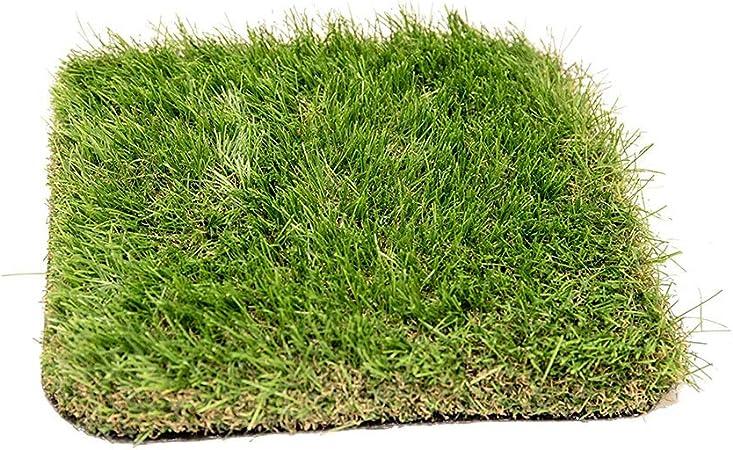 ALYR Césped sintético Alfombra, Pasto Sintético con Agujeros de Drenaje Sintético Césped Perro Mat Pad Alfombra de Hierba para jardín/Piscina/Perro etc 25mm Hige,Green_6x33ft/2x11m: Amazon.es: Hogar