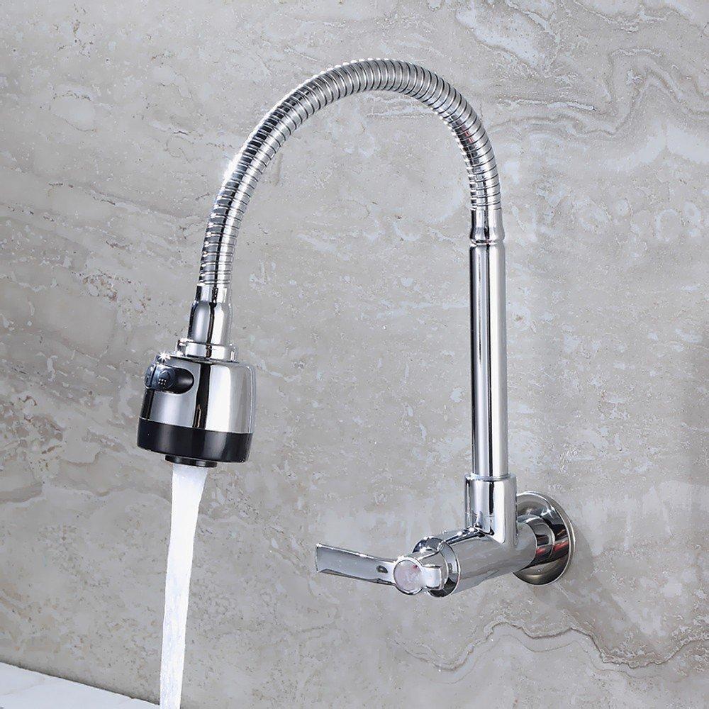 T-TSLT Voll kupfer küchenarmatur, einzelne kühlbecken wäsche pool wand wasserhahn, waschbecken waschbecken wasserhahn, b