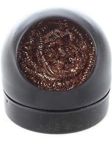 SODIAL(R) Limpiador de boquilla de hierro de limpieza de punta de soldador con