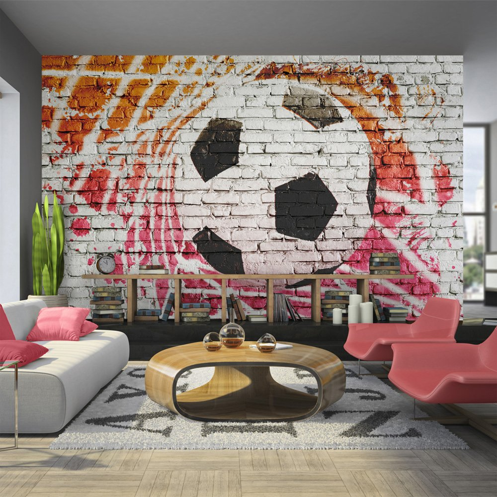 Walltastic football crazy wallpaper mural 8ft x 10ft amazon wallpaper 350x245 cm non woven murals wall mural photo amipublicfo Images