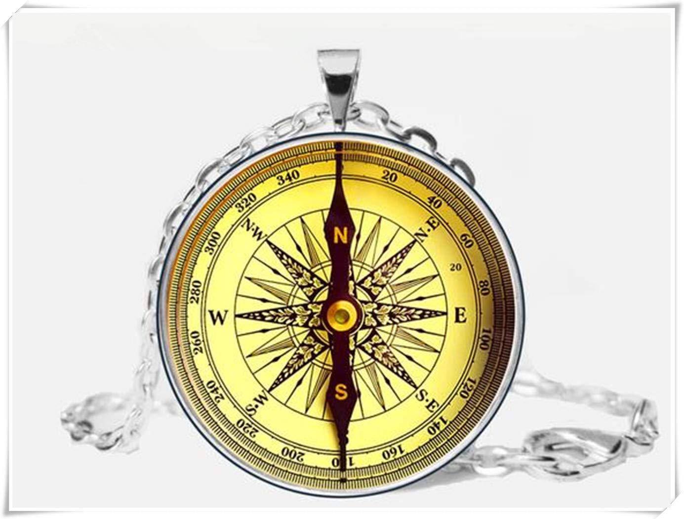 A little little love Compass neklace,Pirate Compass Pendant,Old Compass neklace Jewelry, Husband Gift
