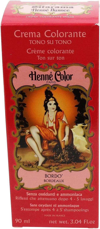 SITARAMA Tinte Vegetal Crema con Henna - Bordeaux - Sin peróxido ni amoniaco - Sin colorantes sintéticos - Vegan