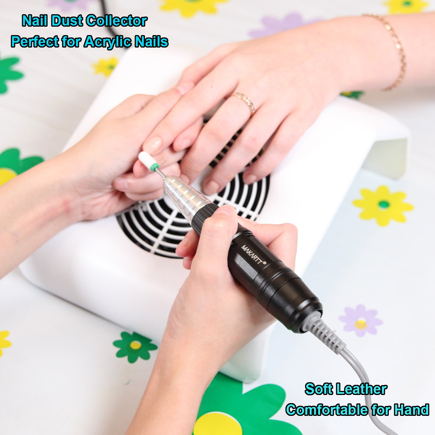 Amazon.com: MAKARTT Nail Art Dust Suction Collector Vacuum Cleaner ...