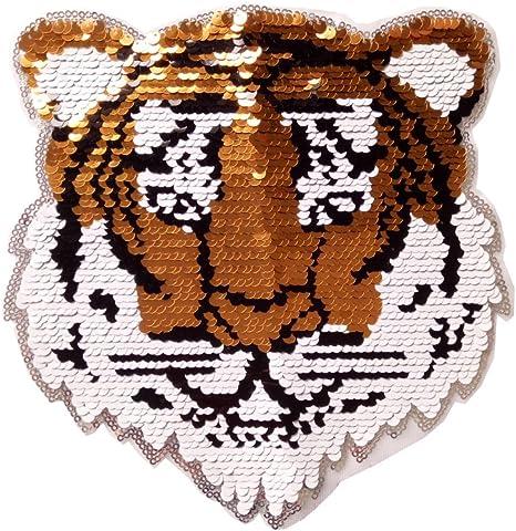 esh7 tigre Reversible lentejuelas coser en parches para ropa niños ...