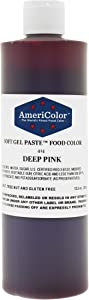Americolor Deep Pink Soft Gel Paste 13.5 Ounces