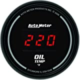 Auto Meter 6348 Sport Comp Digital 2-1/16' 0-340 Degree F Digital Oil Temperature Gauge