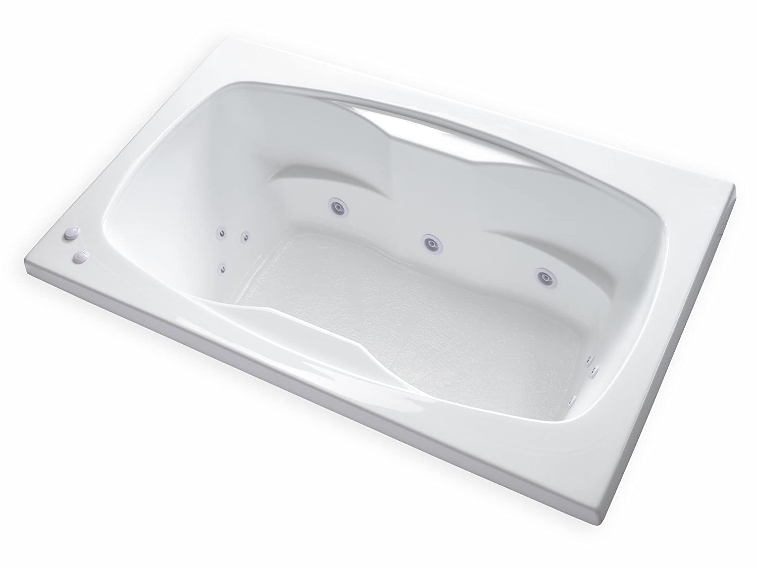 Carver Tubs - AR6042 Rectangle Drop In - 12 Jet, Self Draining ...