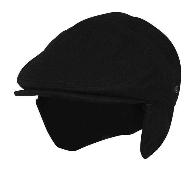 Medium Black Wool Winter Ivy Cabbie Hat w  Earflaps - Driving Hat at ... 40e07c13d8d9