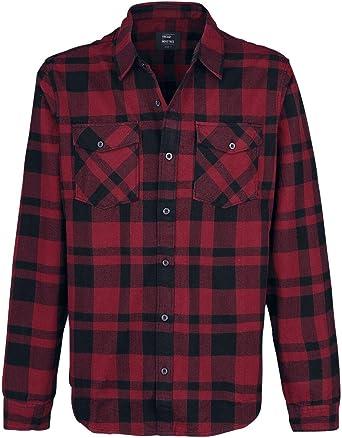Vintage Industries Austin Camisa de Franela Rojo/Negro: Amazon.es: Ropa y accesorios