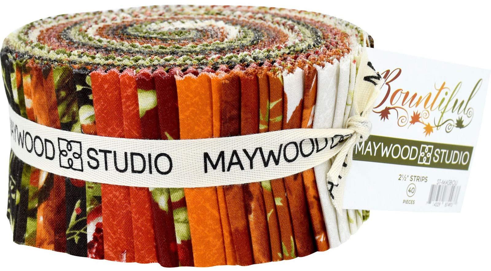 Bountiful Jelly Roll 40 2.5-inch Strips by Maywood Studio by Maywood Studio
