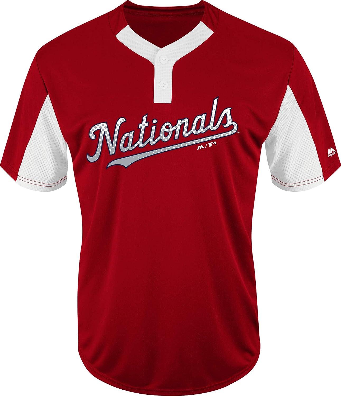 Majestic Washington Nationals Premier Eagle Cool Base Mens 2-Button Jersey