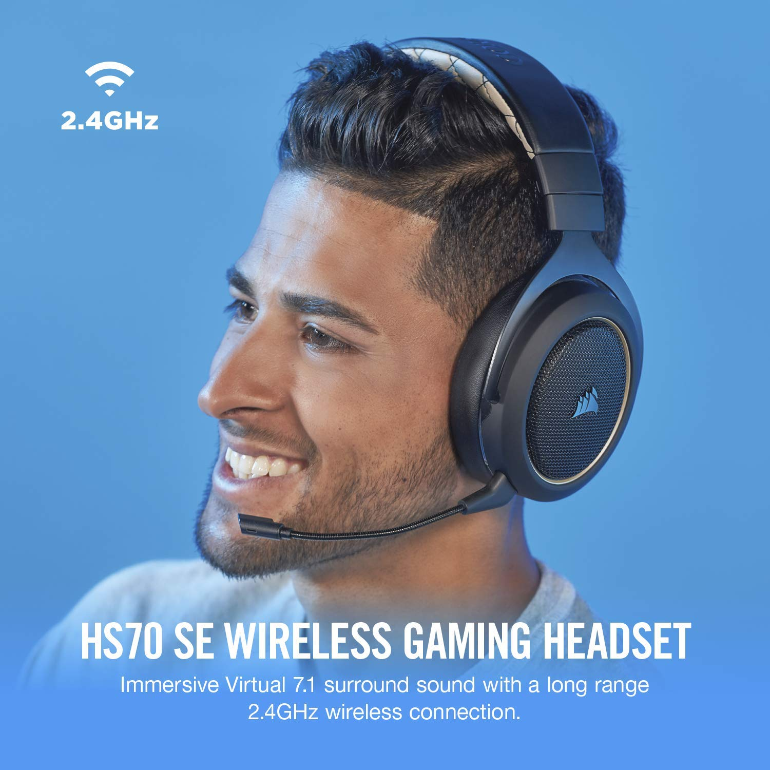 CORSAIR HS70 SE Wireless - 7.1 Surround Sound Gaming Headset - Discord Certified Headphones - Special Edition by Corsair (Image #1)