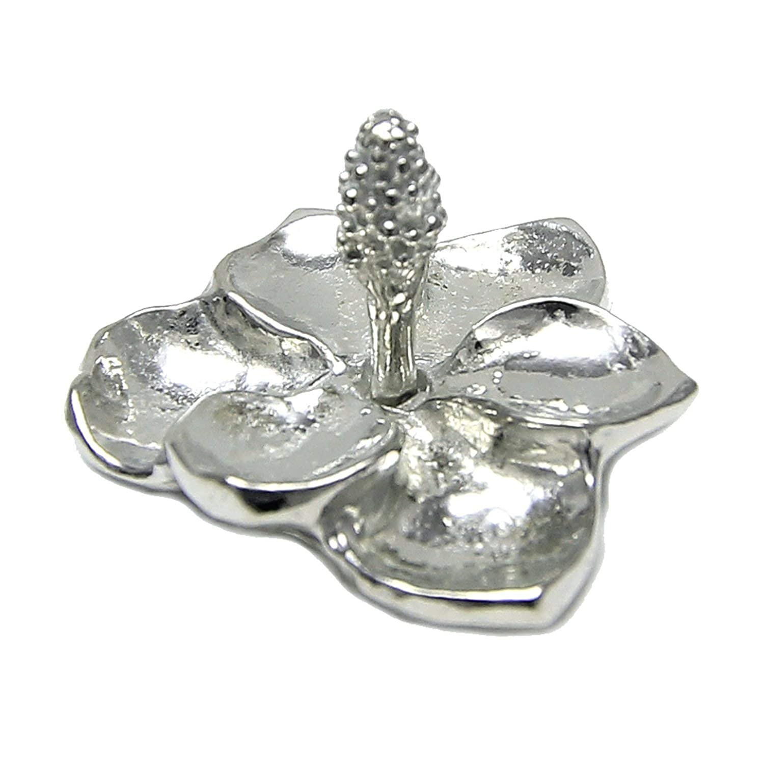 Pewter Magnolia Flower Ring Holder - Tiny Ring Stand Gift Boxed with Steel Magnolias Story Card - Handcrafted in USA