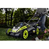 """Ryobi. 20"""" RY40190 40-Volt Brushless Lithium-Ion Cordless Battery Self Propelled Lawn Mower with 5.0 Ah Battery and Charger Included"""