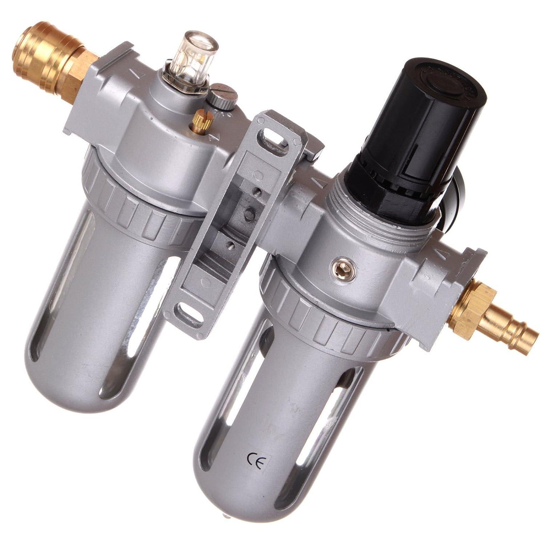 Unidad de mantenimiento de aire comprimido manorreductor Lubricador para compresor Impacto de acoplamiento rápido: Amazon.es: Bricolaje y herramientas