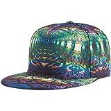 TESOON Unisex Snapback Hats Personality Printed Hip Hop Flat Bill Cap b6495b76a64
