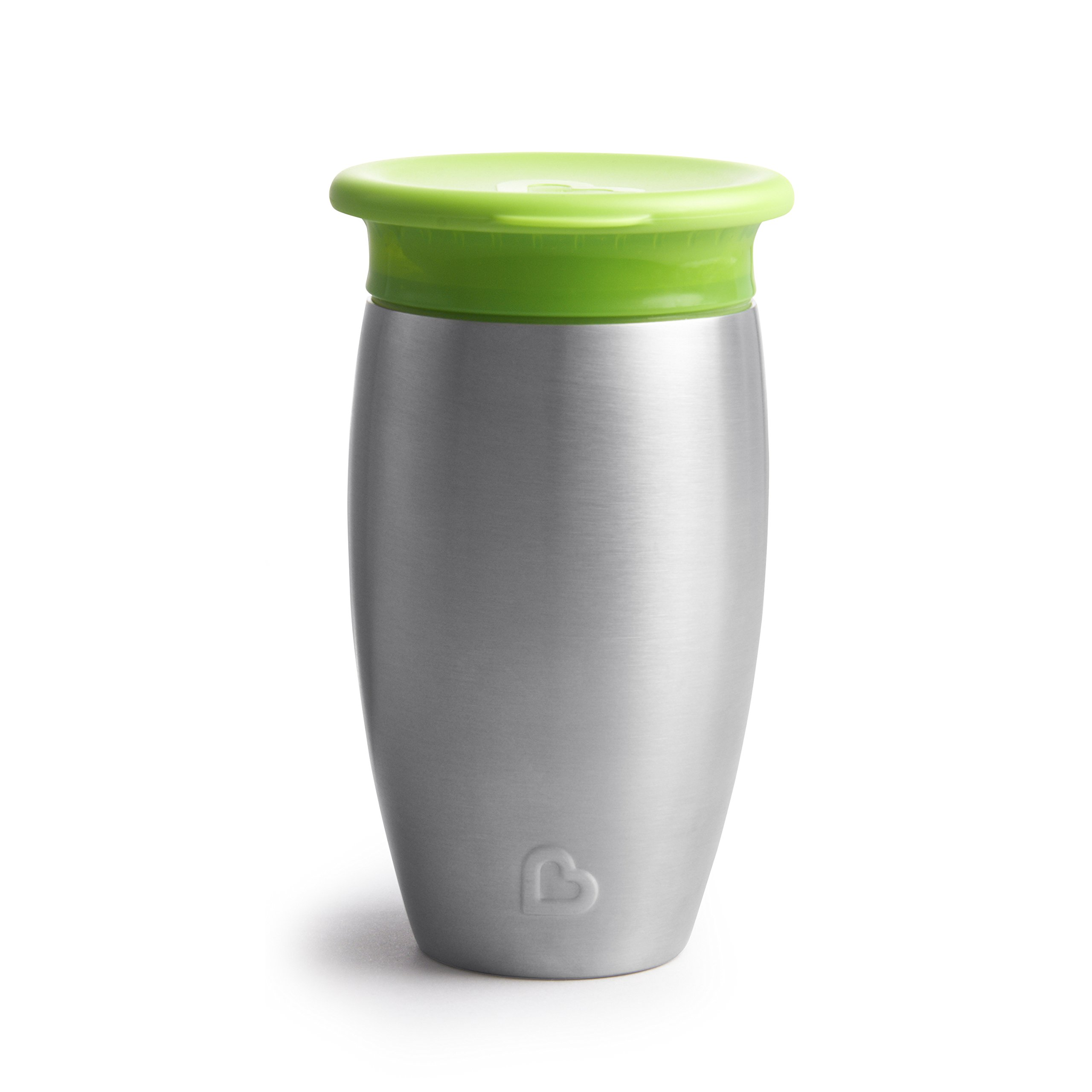 Munchkin Miracle Stainless Steel 360 Sippy Cup, Green, 10 Ounce by Munchkin (Image #4)