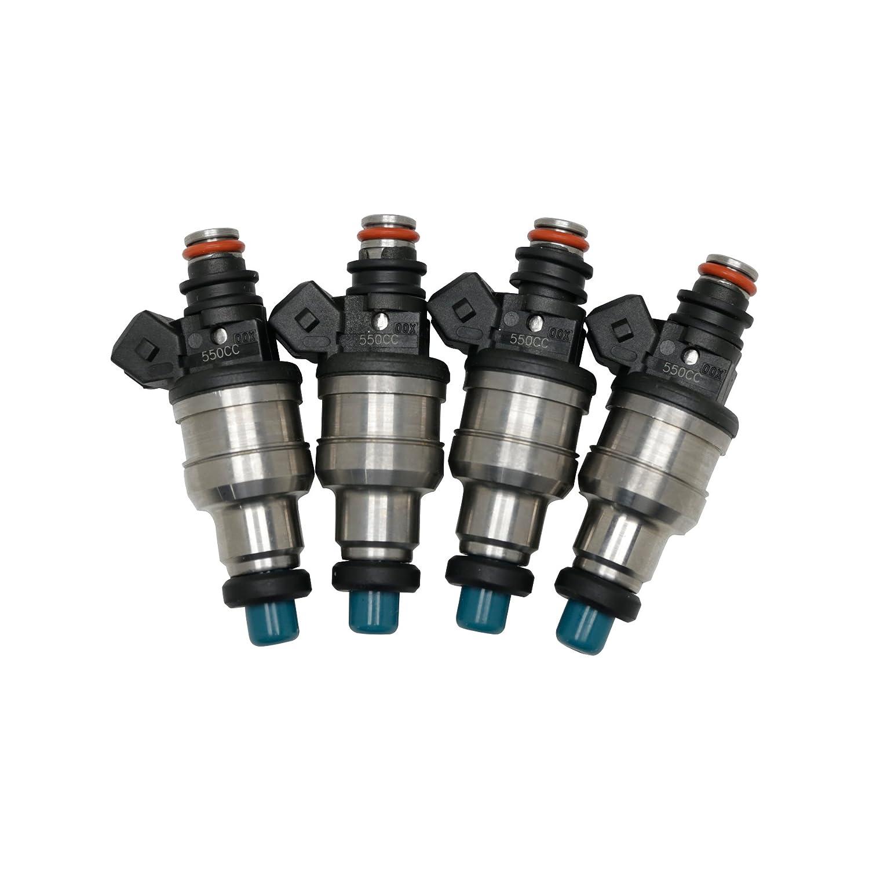 New 550cc Fuel Injectors for Honda OBD1 OBD2 B16 B18 B20 D15 D16 D18 F22 H22 Ebely