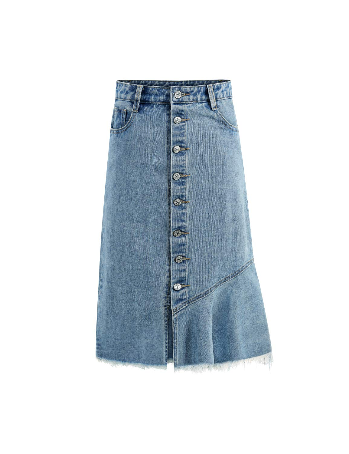 Can look blue jean skirt can consult