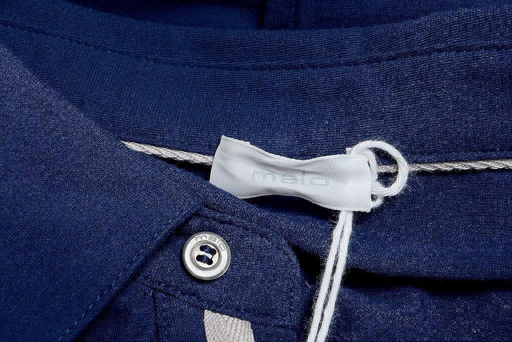 MALO Navy Blue Mans Long Sleeve Polo Shirt