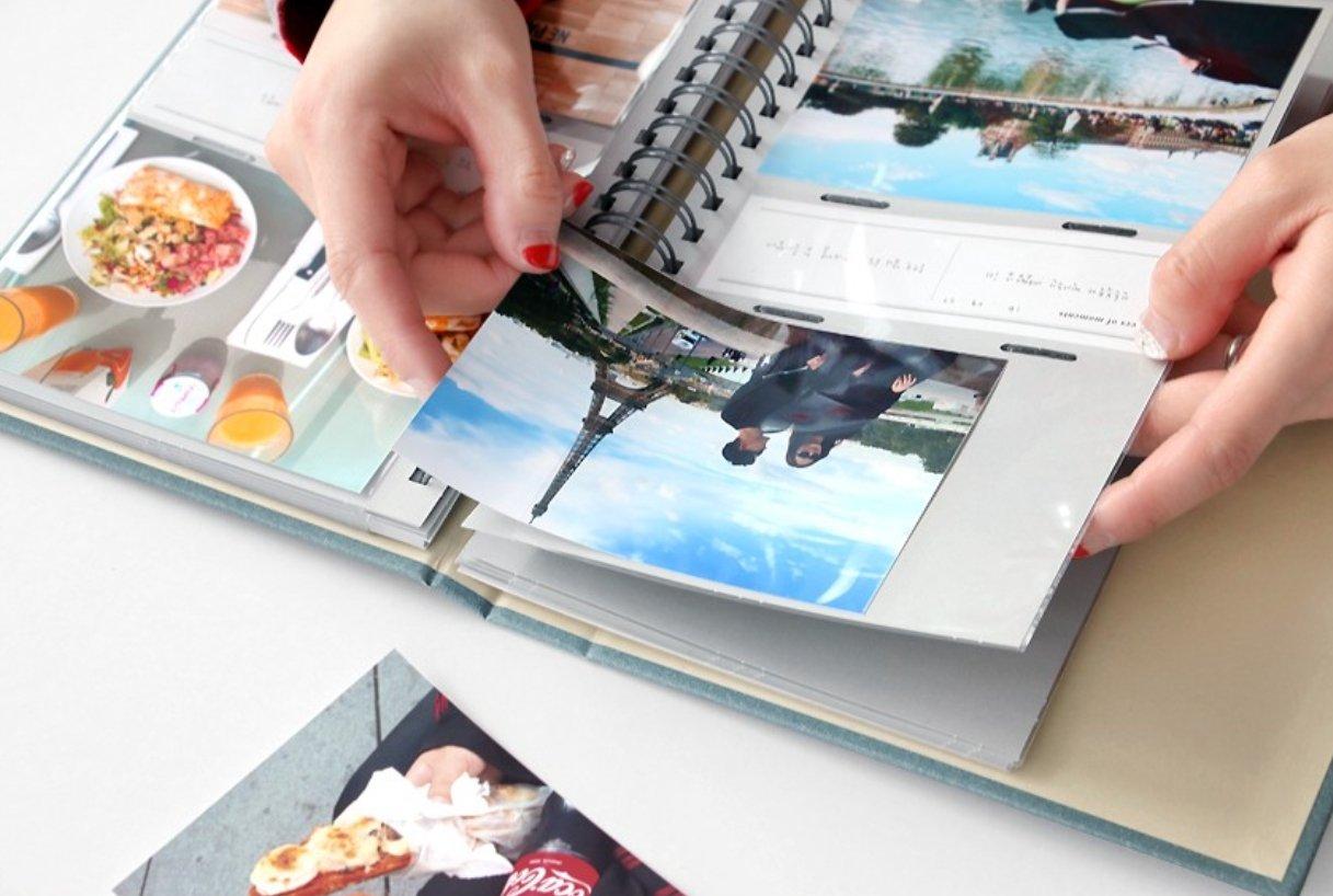 ICONIC PHOTO IN - Spring Photo Album - Album de photos slip in Photo Album (3 x 5 inches, Indi Blue)