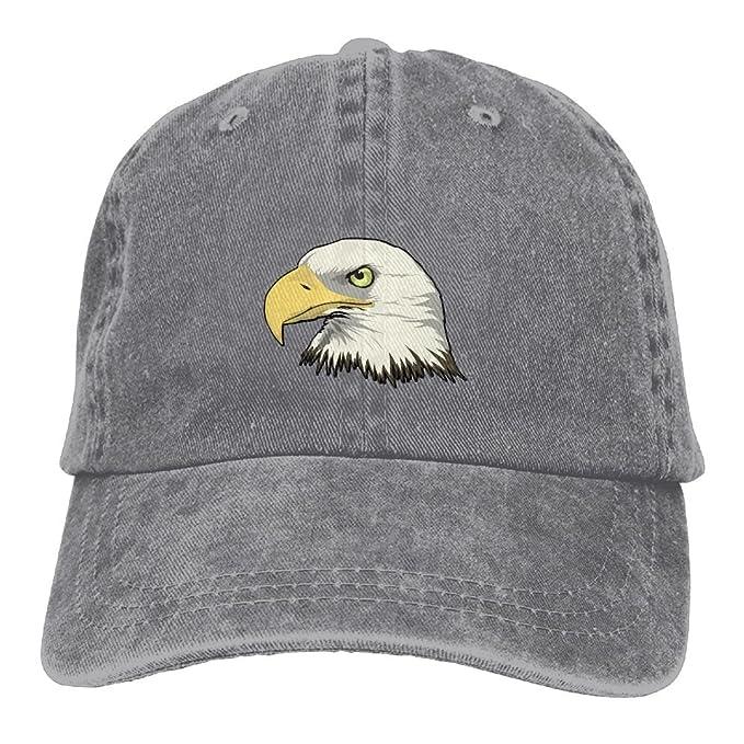 30d420e6c63 Men s Bald Eagle Head Vintage Cotton Baseball Cap Washed Denim Hat ...