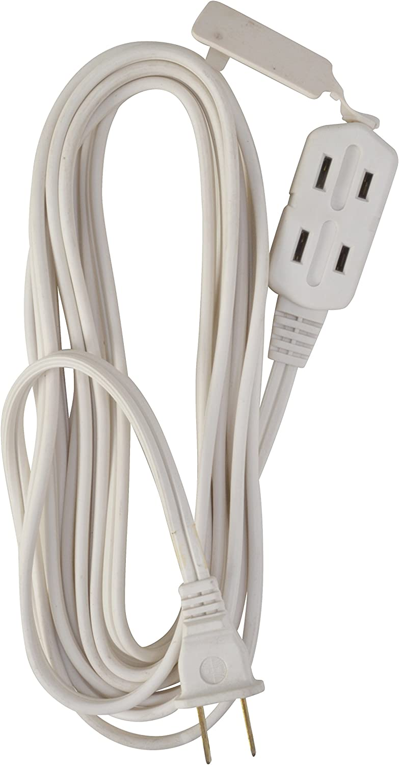 6-Feet Woods 0600W 3-Outlet 16//2 Cube Extension Cord w// Power Tap White