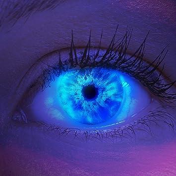 Lentillas de color azul Ice Blue 1 par. Para Halloween Carnaval, gratis estuche de lentillas sin graduación: Amazon.es: Salud y cuidado personal
