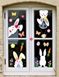 jollylife 71PCS Easter Bunny Window Cling