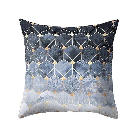 Dontdo geometría patrón de rombos manta funda de almohada ...