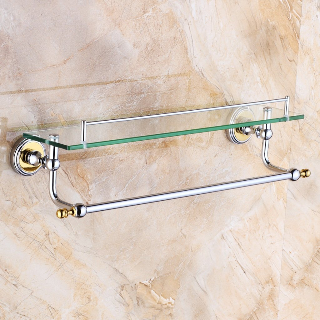 現代の厚いガラスのギャラリーのバスルームフレームの壁1層銅の材料8ミリメートル強化ガラス (サイズ さいず : 550mm) B07DRFKCJS 550mm  550mm