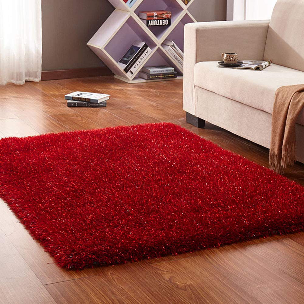 カーペット、シンプルなソリッドカラー長方形のリビングソファベッドルームのコーヒーテーブルマットの長い髪、柔らかく快適   B07KCTFKY4