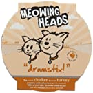Meowing Heads Cat Food Drumstix Potted Meat Turkey and Chicken, 680 g, Pack of 8