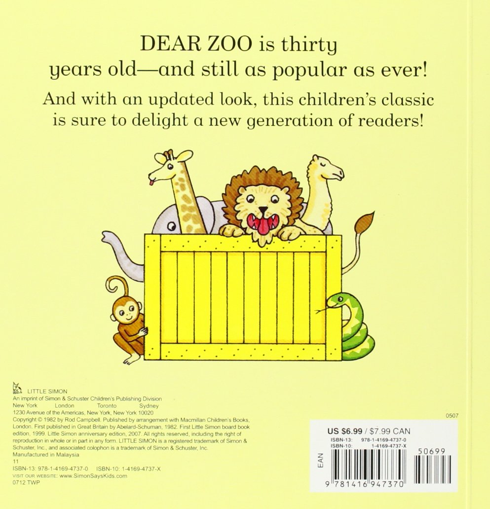 Classic Children S Book Cover ~ Dear zoo: a lift the flap book: rod campbell: 8601400161784