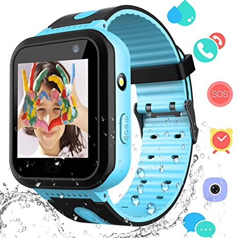 Kids Smart Watch Phone – Boys Girls Smartwatch for Kids Aged 3-12 Water Resistant Touch Screen Voice Calling SOS Alerts Camera Game Alarm Clock Wrist ...