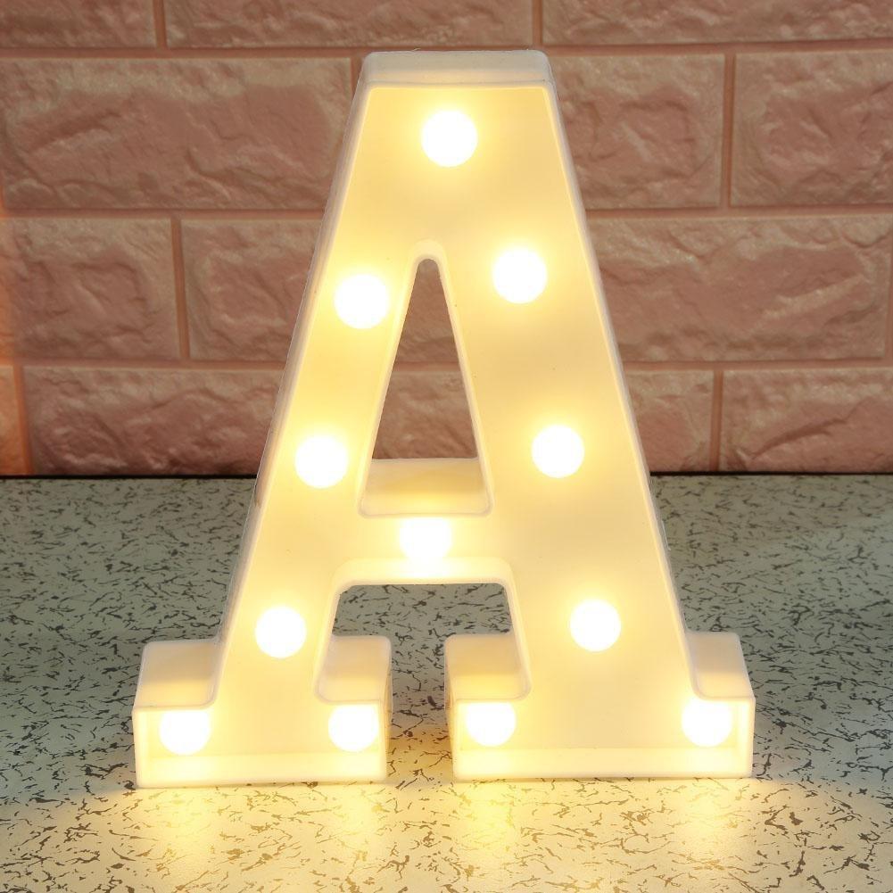 UEB Luci LED Decorative a Forma di Lettere 3D LED Luce Atmosfera Lampada Decorativa per Feate,Matrimonio,Natale,Compleanno A